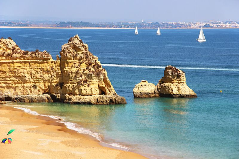 Dona Ana beach in Lagos, Portugal